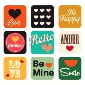 19462389-different-retro-icons-on-vintage-background